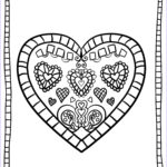 Heart Coloring Pages For Adults New Gallery Valentines Day Coloring Pages For Adults Best Coloring