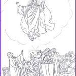 Heaven Coloring Page Awesome Photography Jesus Ascends To Heaven Coloring Page
