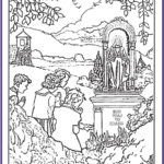 Heaven Coloring Page Awesome Photos 150 Catholic Coloring Pages Sacraments Rosary Saints