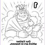 Heaven Coloring Page Beautiful Stock Our Father Which Art In Heaven Hallowed Be Thy Name