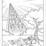 Heaven Coloring Page Cool Images Jacob S Dream Bible Stories