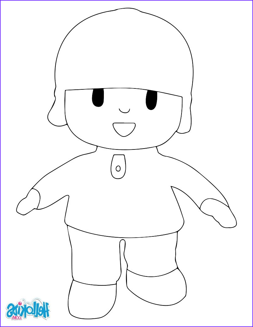 Hello Kids Coloring Pages Best Of Stock Pocoyo Coloring Pages Hellokids