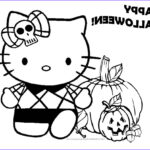 Hello Kittty Coloring Awesome Collection Hello Kitty Halloween Coloring Pages