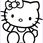 Hello Kittty Coloring Beautiful Stock Hello Kitty Coloring Page