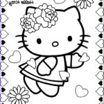 Hello Kittty Coloring Cool Photos Hello Kitty Valentine Coloring Pages
