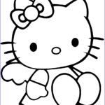 Hello Kittty Coloring Unique Gallery Cute Hello Kitty Coloring Page