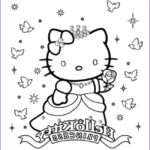 Hello Kitty Birthday Coloring Pages Awesome Photography Princesse Kitty Coloring Pages Hellokids