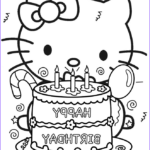Hello Kitty Birthday Coloring Pages Beautiful Image Happy Birthday Hello Kitty Coloring Page
