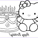 Hello Kitty Birthday Coloring Pages Cool Image Free Printable Happy Birthday Coloring Pages For Kids