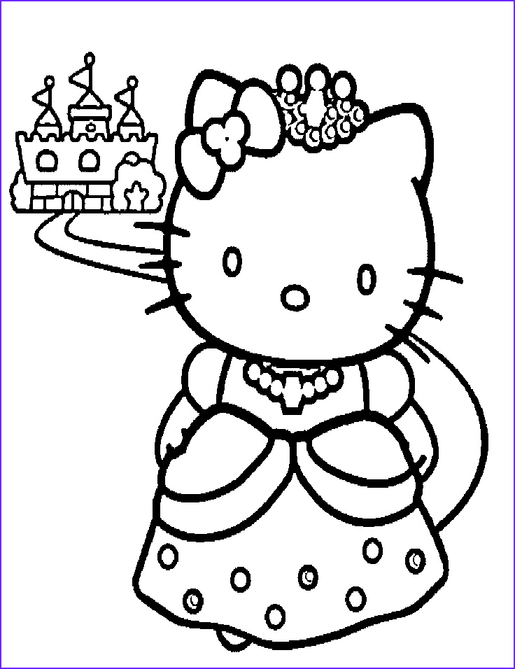 Hello Kitty Birthday Coloring Pages Inspirational Images Princess Hello Kitty Coloring Pages