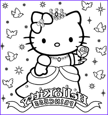 Hello Kitty Birthday Coloring Pages Unique Collection Hello Kitty Happy Birthday Princess Coloring Sheet