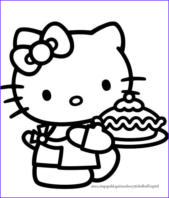 hello kitty colouring pictures