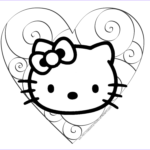 Hello Kitty Coloring Book Cool Image Hello Kitty Valentine Coloring Pages Coloring Home