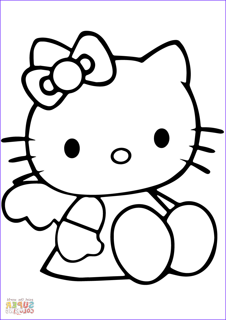 Hello Kitty Coloring Book New Image Cute Hello Kitty Coloring Page
