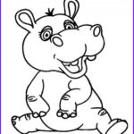 Hippo Coloring Pages Unique Collection Printable Hippo Coloring Pages for Kids
