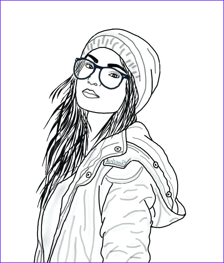 Hipster Coloring Pages Luxury Images Hipster Girl Coloring Pages at Getcolorings