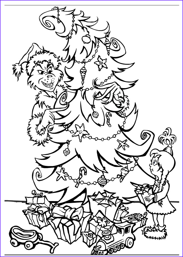 Holiday Coloring Book Beautiful Collection Free Printable Grinch Coloring Pages for Kids