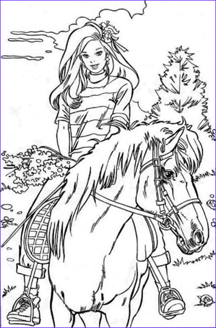 Horse Coloring Book Awesome Gallery Barbie Coloring Pages