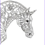 Horse Coloring Book For Adults Awesome Collection Decorative Horse Profile For Print Jpeg Image 2550