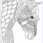Horse Coloring Book For Adults Awesome Images Horse Coloring Page For Adults Illustration By Keiti