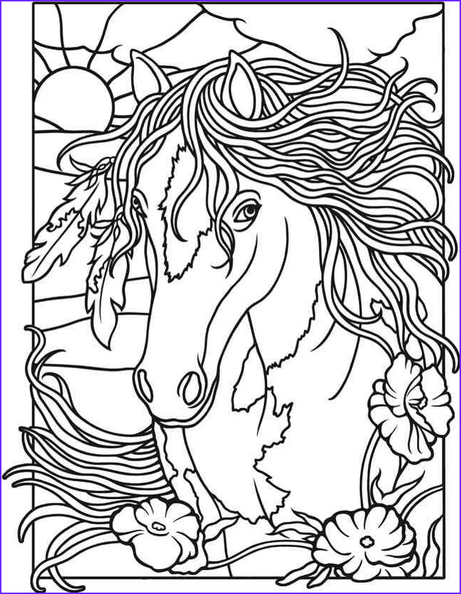 Horse Coloring Book for Adults Awesome Photos Horses Coloring Books Pinterest