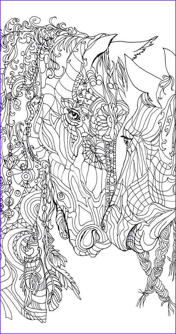 Horse Coloring Book for Adults Beautiful Image Coloring Pages Printable Adult Coloring Book Horse Clip
