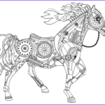 Horse Coloring Book For Adults Unique Gallery Steampunk Horse Adult Coloring Page