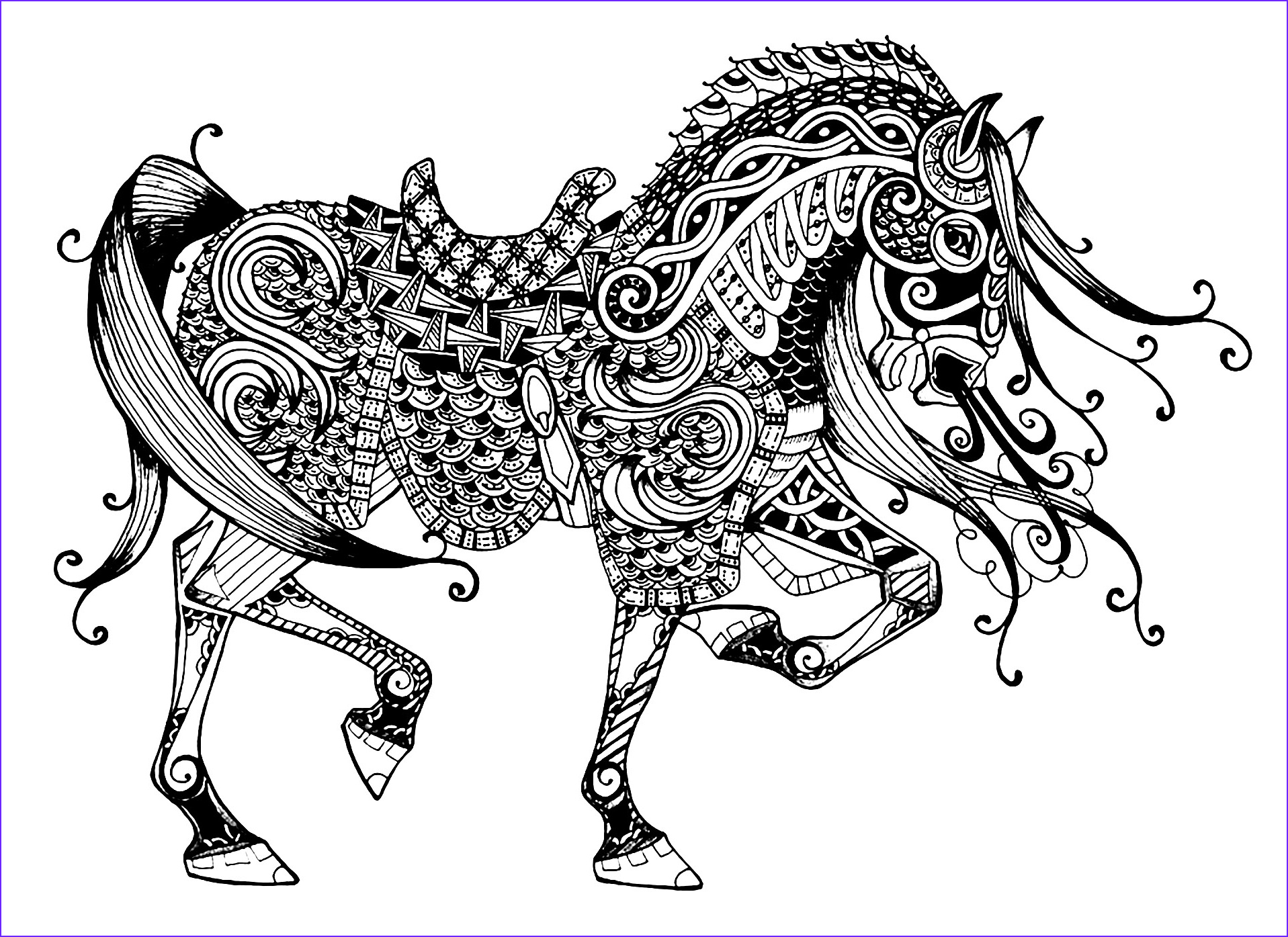 image=horses coloring page majestic horse 1