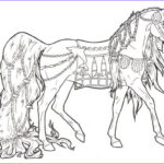 Horse Coloring Pages Printable Cool Collection Free Printable Horse Coloring Pages For Adults
