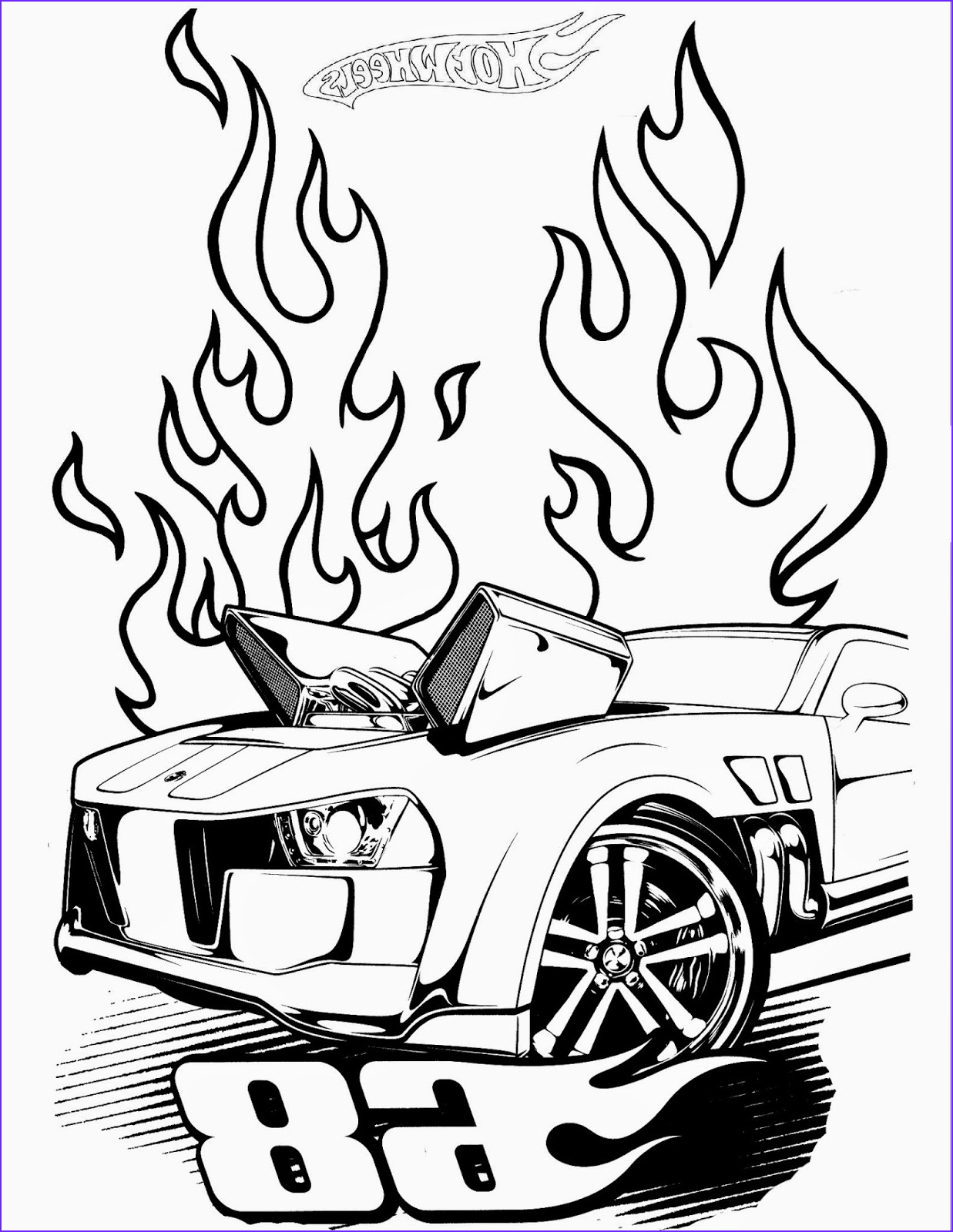 hot wheels coloring pages set 3