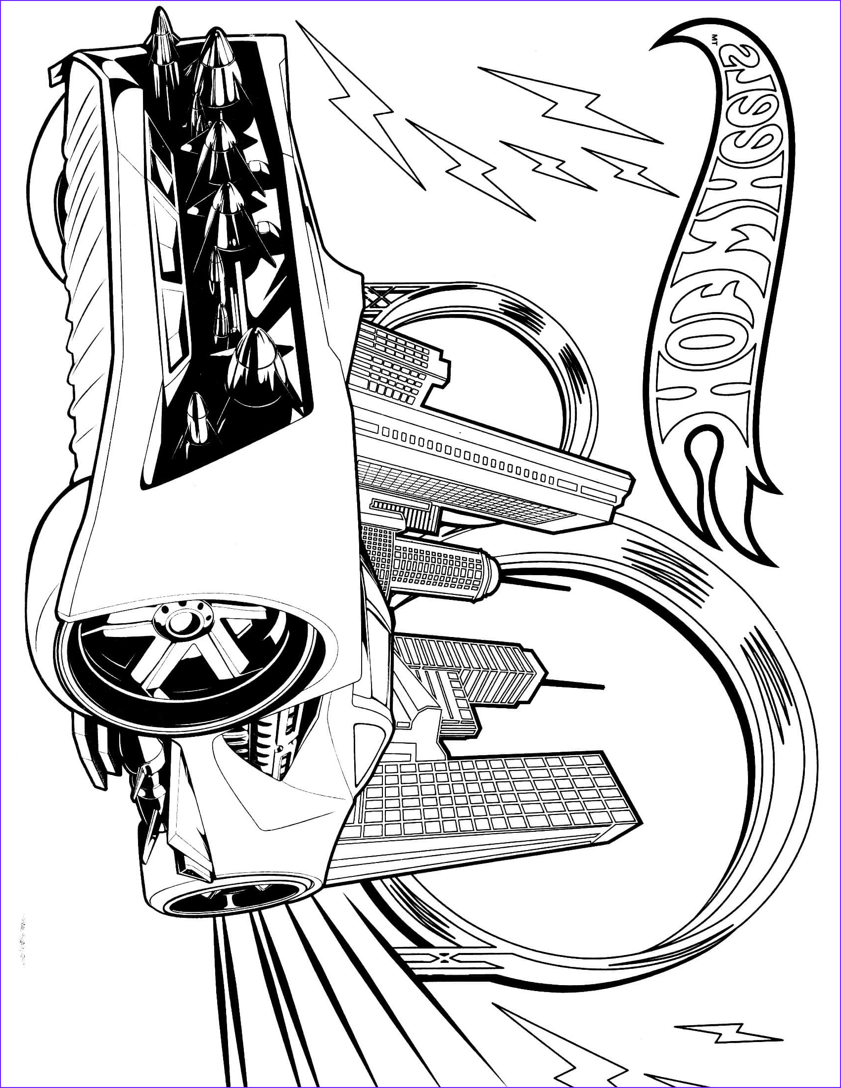 hot wheels coloring page 13