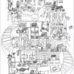 House Coloring Book Awesome Images Anti Stress Colouring Pages On Pinterest