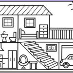 House Coloring Book Awesome Photos How To Draw A House For Kids ??? House Drawing For Kids