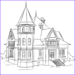 House Coloring Book Beautiful Collection Victorian House Coloring Page