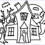 House Coloring Book Beautiful Image Free Printable Haunted House Coloring Pages For Kids