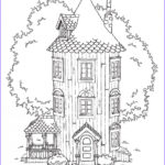 House Coloring Book Best Of Photos Moomin Coloring Pages To And Print For Free