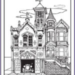House Coloring Book Cool Photos Old Victorian House Coloring Pages For Grown Ups