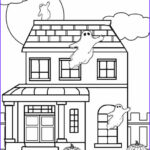 House Coloring Book Cool Photos Printable Haunted House Coloring Pages For Kids