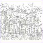 House Coloring Book Unique Image Fairy House Colouring In Poster By Really Giant Posters