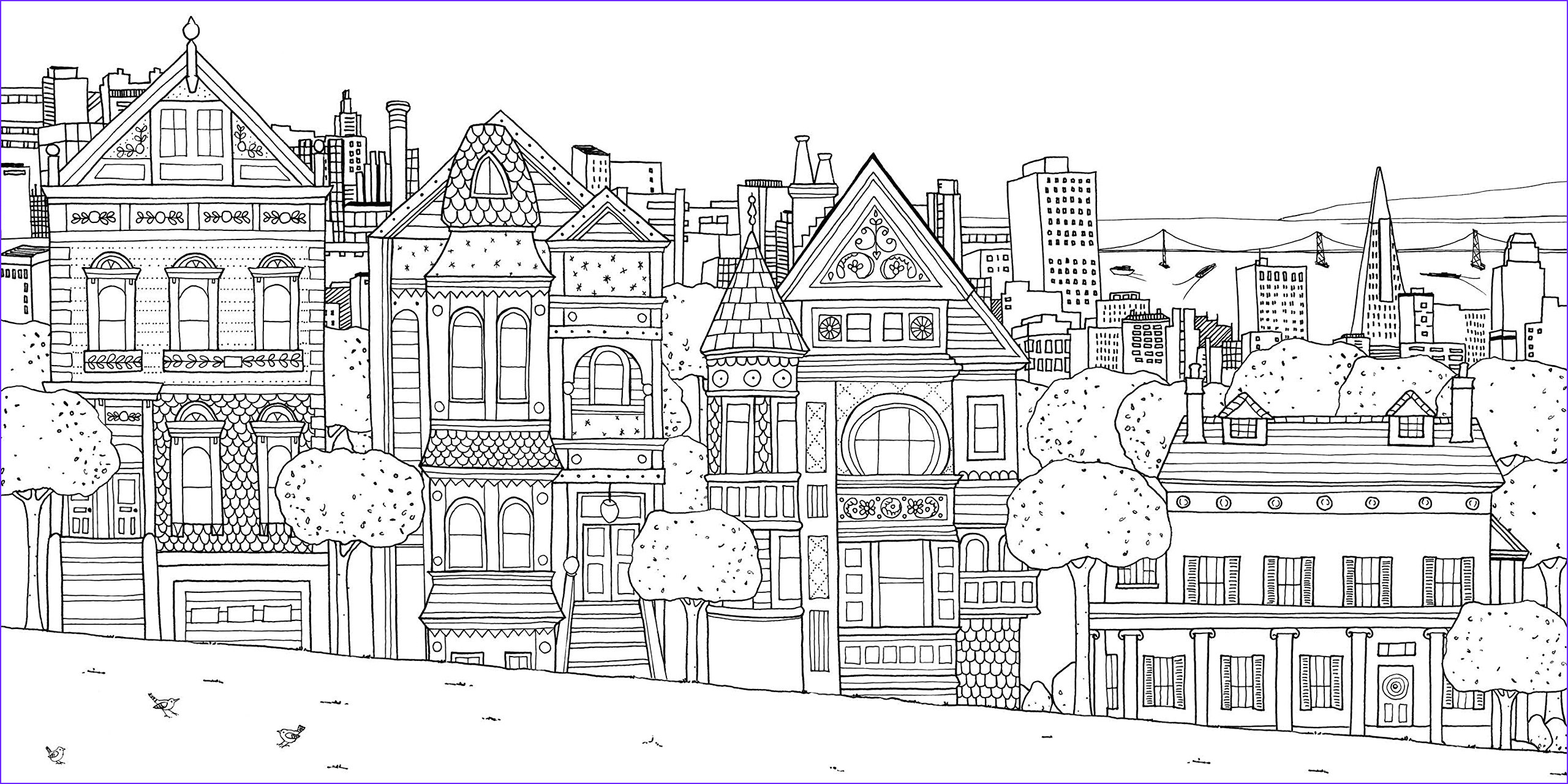image=architecture home coloring san franscico houses 1