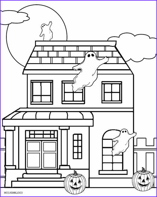 Houses Coloring Book Awesome Photos Printable Haunted House Coloring Pages for Kids
