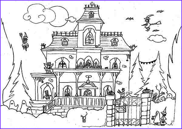 Houses Coloring Book Best Of Stock Halloween Haunted House Coloring Pages – Festival Collections