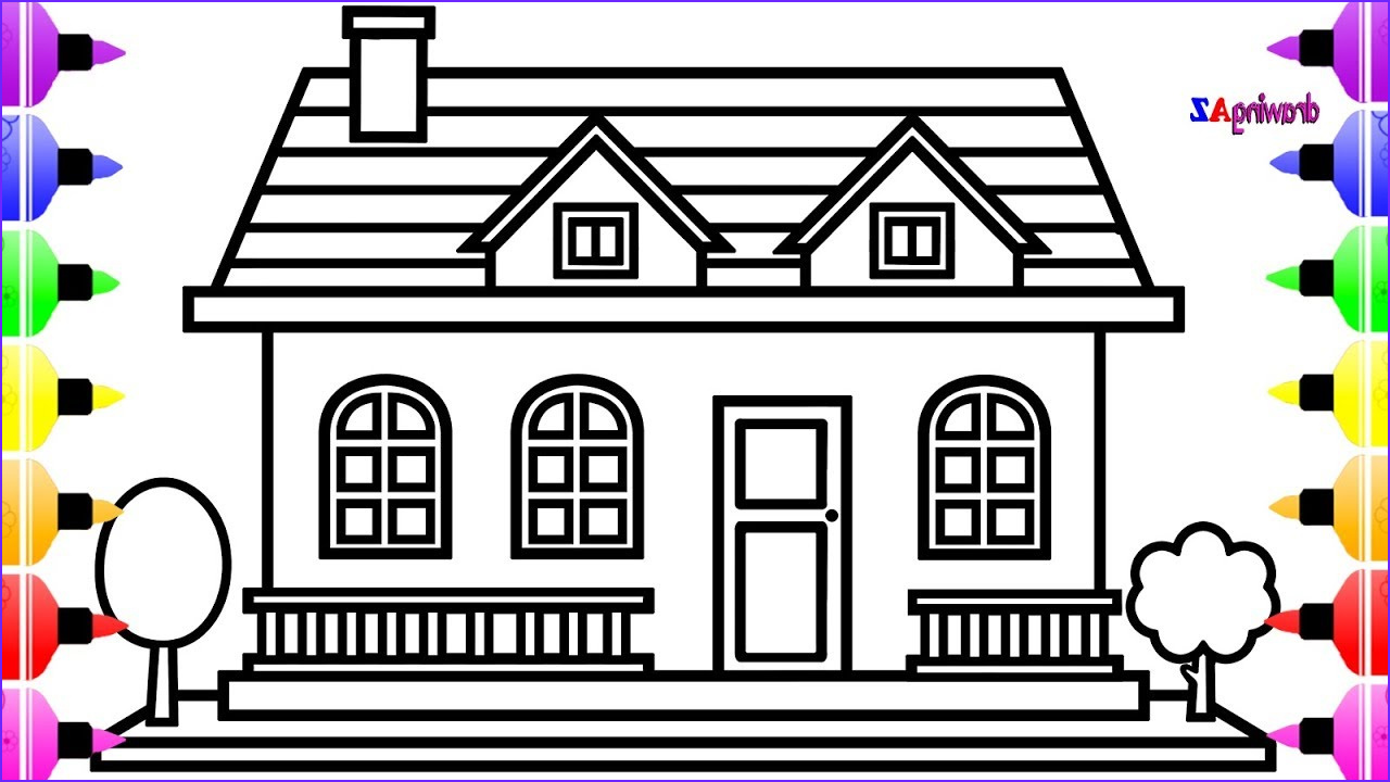 Houses Coloring Book Inspirational Photography How to Draw House for Kids and House Coloring Pages for