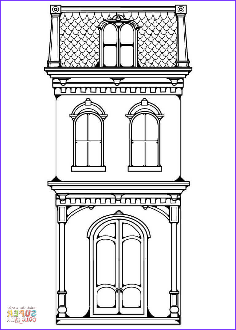 Houses Coloring Book Luxury Stock Victorian Row House Coloring Page