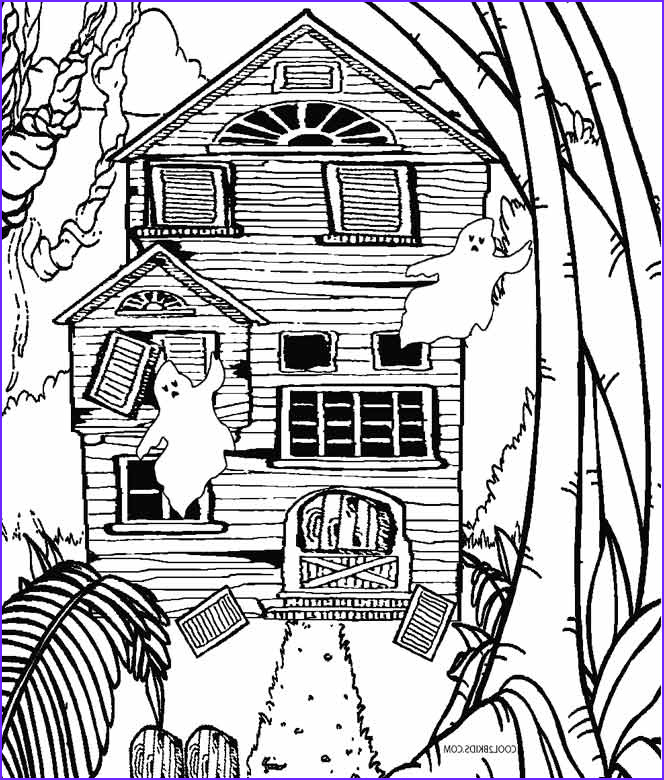 Houses Coloring Book New Photos Printable Haunted House Coloring Pages for Kids