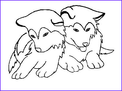 Husky Coloring Page Elegant Images Draw Puppy