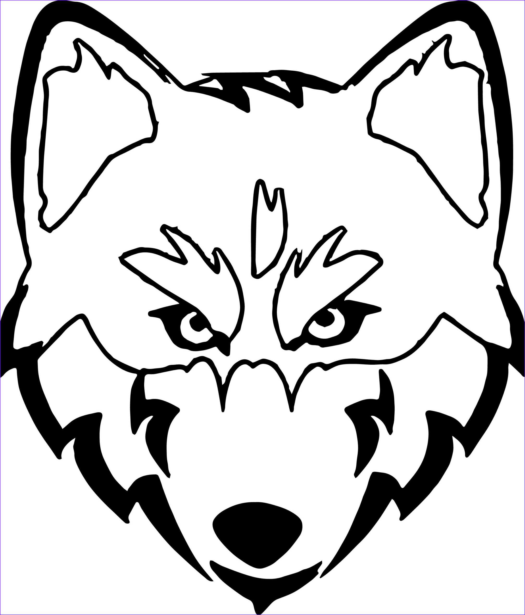 husky coloring page 06
