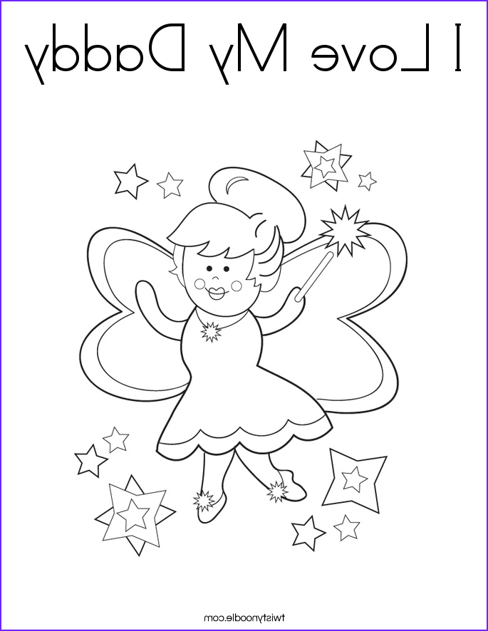 i love my daddy coloring page
