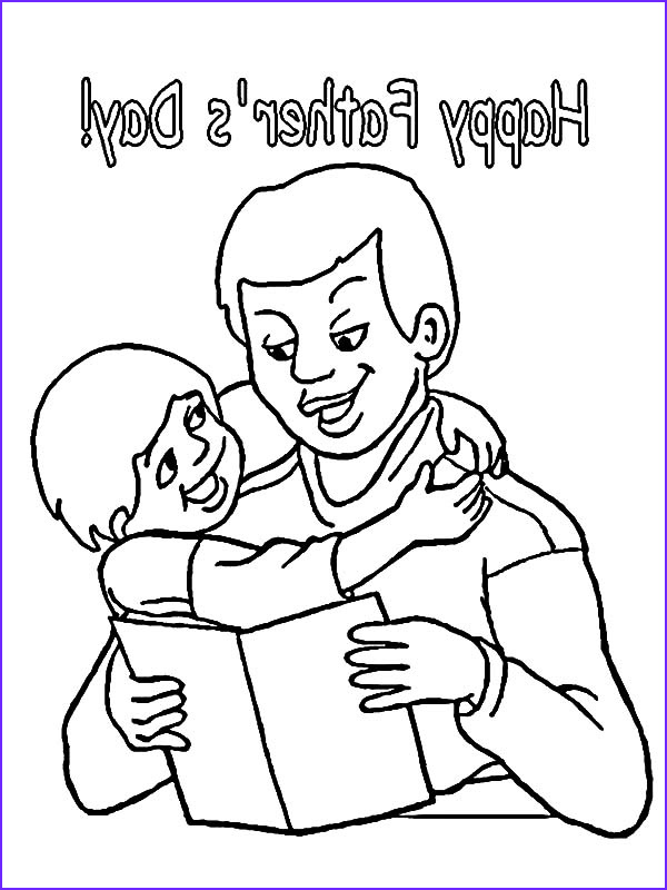 read a book for his kid i love dad coloring pages