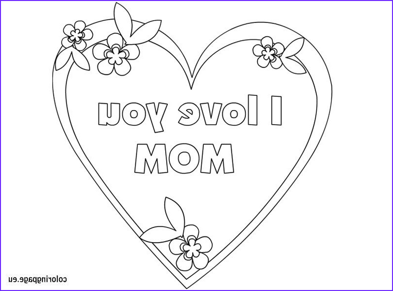 I Love My Mommy Coloring Pages New Images I Love You Mom Coloring Page Mother S Day
